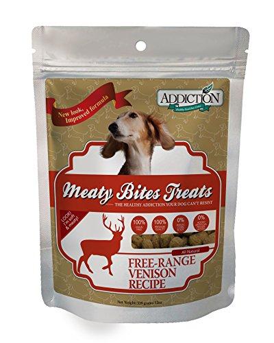 Addiction Venison Meaty Bites Grain Free Dog Treats, 12 oz.