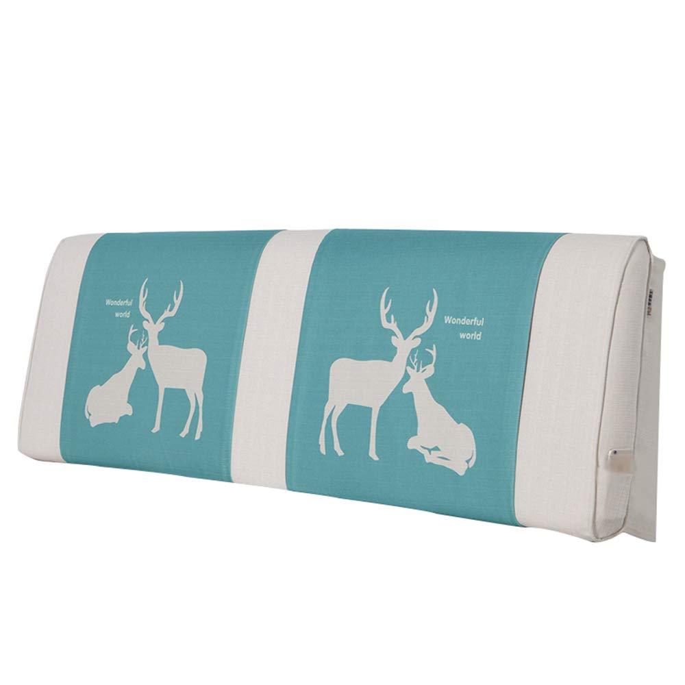 ヘッドボードソフトバッグ/リネンコットンバッククッションノルディック洗濯可能な印刷と染色腰部パッド (色 : B, サイズ さいず : 150 * 20 * 60cm) B07GS3MCHV B 150*20*60cm
