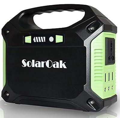 New SOLAROAK Portable Generator Battery Pack Power Supply Solar Energy Storage