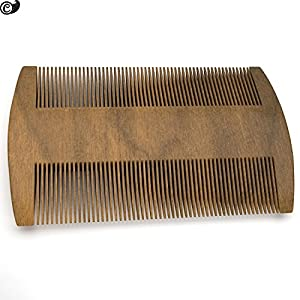 Fine Tooth Sandalwood Pocket Sized No Static Beard Comb, Best Wooden Fine Tooth Sandalwood Comb for Long and Short Beards, No Static Beard Comb, Perfect Mustache Comb