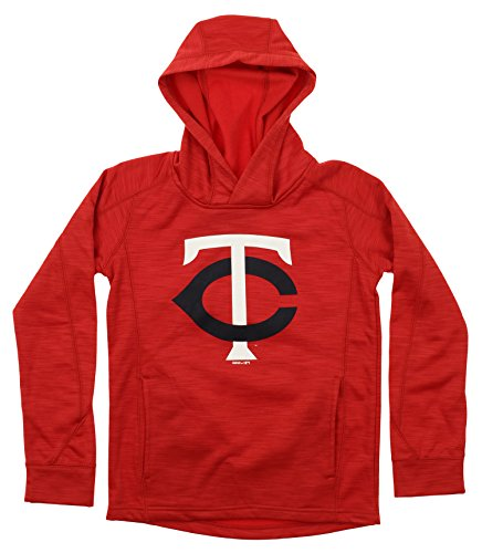 Fleece Minnesota Twins Pullover - Outerstuff MLB Youth's Performance Fleece Primary Logo Hoodie, Minnesota Twins Large (14-16)