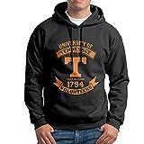 FUOALF Mens Pullover University Of Tennessee Hoodie Sweatshirts Black M