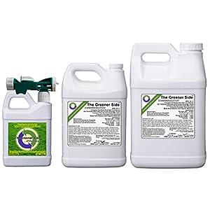 Greener Side all-in-one 14-3-7 lawn fertilizer and conditioner (RTU Quart)