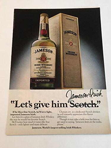 1979 Jameson Irish Whiskey Magazine Print Advertisement
