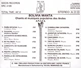 Bolivia Manta: Chants et musiques populaires des Andes (Songs and Popular Music of the Andes)