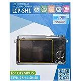 JJC LCP-SH1 Hard Polycarbonate LCD Guard Film Screen Protector Olympus SH1 SH2 SH60 Camera (2 Pack)
