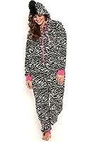 Totally Pink Women's Plus Size Warm and Cozy Plush Onesie Pajama
