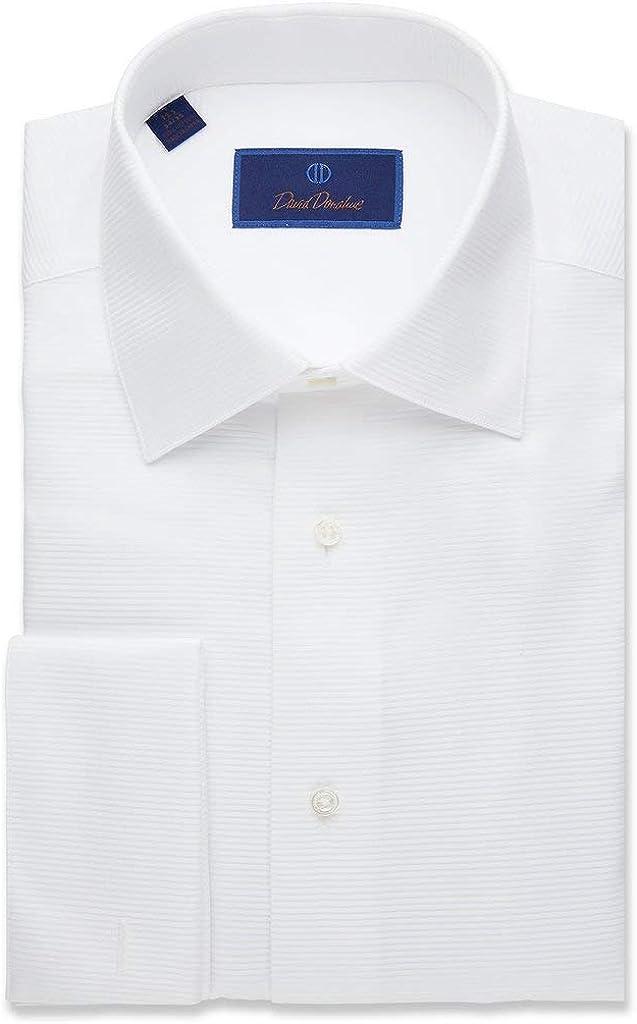 David Donahue Regular Fit Omaha Mall Horizontal All items free shipping Rib Shirt Formal