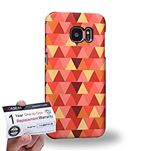 Case88 [Samsung Galaxy S7] 3D impresa Carcasa/Funda dura para & Tarjeta de garantía - Art Fashion Vermilion Geometric Aztec Camo