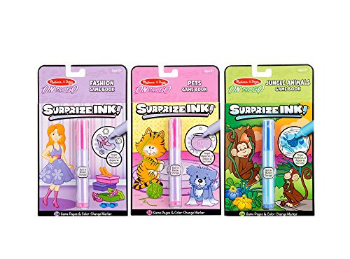 Melissa & Doug On the Go Surprize Ink Activity Books Set - Jungle Animals, Pets, Fashion Go Go Pets Set