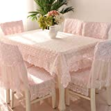 Country style pink check lace square tablecloths 31''31''(80 80cm)