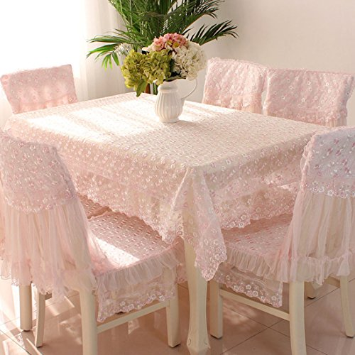 - Country style pink check lace rectangle tablecloths 59