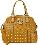 A+ Shoulder Fashion Handbag Purse With Round Lock Accessory And Long Strap (Brown):SA4328-BN