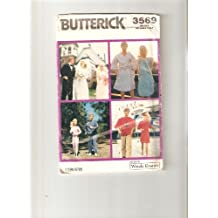 "Butterick pattern 3569 (One Size) (sew 11 1/2"" girl & boy fashion Doll Clothes)"