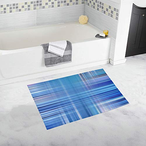 Winter Colors ICY Ice Texture Blue Custom Non-Slip Bath Mat Rug Bath Doormat Floor Rug for Bathroom 20 X 32 Inch