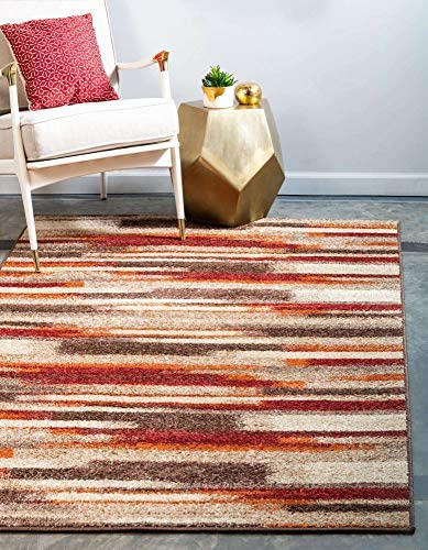 Unique Loom Autumn Collection Casual Gradient Warm Toned Multi Area Rug 9' 0 x 12' 0