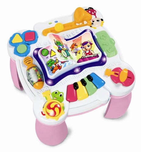 LeapFrog Learn & Groove Musical Table - Pink (And Kids Toys Alphabet Learn Tap)
