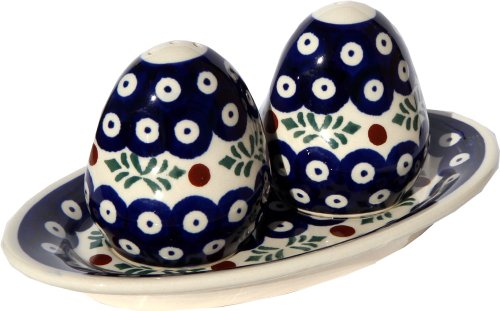 Polish Pottery Salt and Pepper Shakers From Zaklady Ceramiczne Boleslawiec #961-242