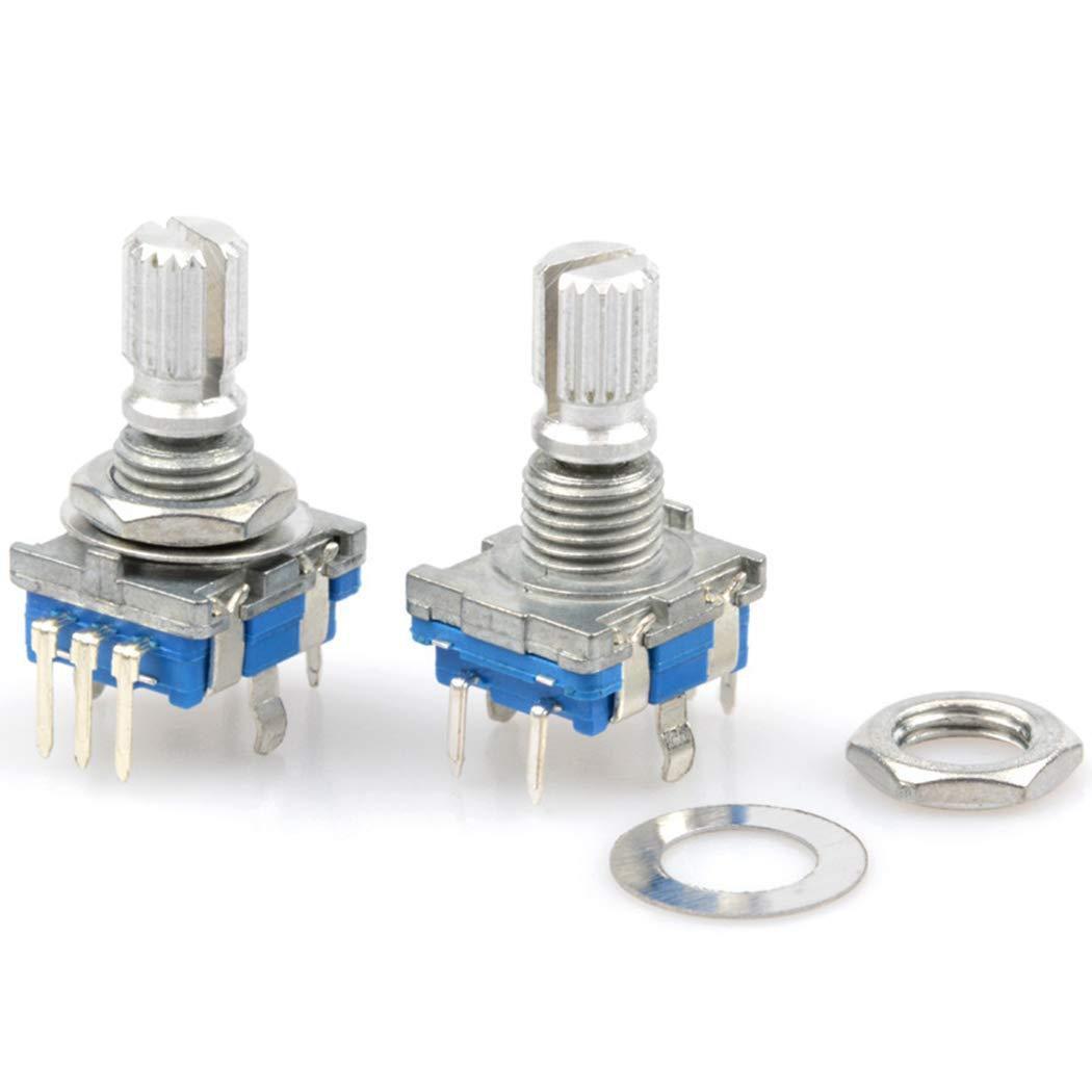 Justdolife 5 Pines Codificador Rotatorio EC11 Potenci/ómetro Digital Audio con Interruptor C/ódigo con Interruptor
