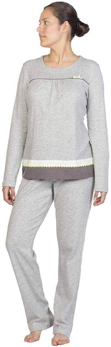 Señoretta Pijama de Mujer en Punto 192134 - Gris, XL: Amazon ...