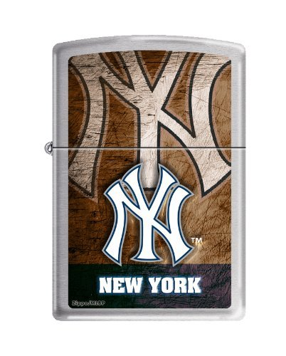 Zippo Lighter MLB New York Yankees Brushed Chrome ()