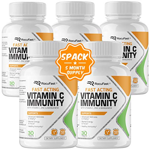 Vitamin C Zinc Immune Support Immune Booster Fast Acting Antioxidant Immunity Boost with Vitamin D, B6, B12, E…