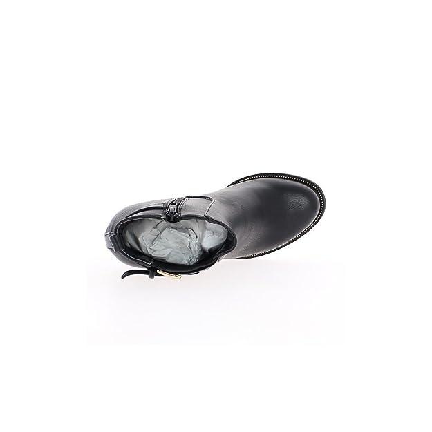 Niedrige Stiefel rot lackiert mit 10cm Absatz ChaussMoi