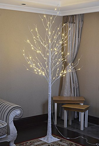 Lightshare 132L LED Birch Tree, 8-Feet | Home in the UAE. See ...