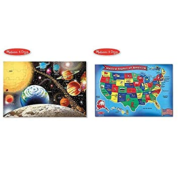 Melissa Doug Solar System Floor Puzzle Floor Puzzles Easy Clean Surface Promotes Hand Eye Coordination 48 Pieces 36 L X 24 W And Melissa