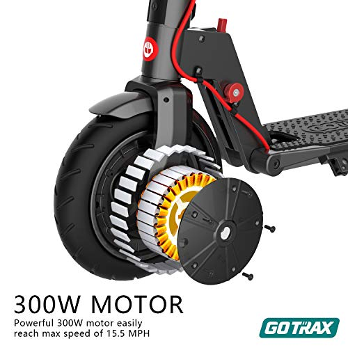 Gotrax XR Ultra Electric Scooter, LG Battery 36V/7.0AH Up to 17 Miles Long-Range, Powerful 300W Motor & 15.5 MPH, UL Certified Adult E-Scooter for Commuter (Deep Black)