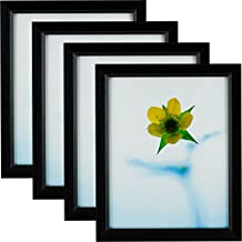 Craig Frames 7171610BK 8 by 10-Inch Picture Frame 4-Piece Set, Solid Wood.84-Inch Wide, Black
