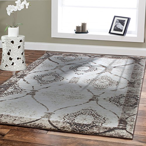 Large 8x11 Modern Rugs For Living Room Cream Rug 8x10 Rugs Diamond Shape Black Cream Brown Contemporary Area Rug 8 by 10 Clearance Under 100