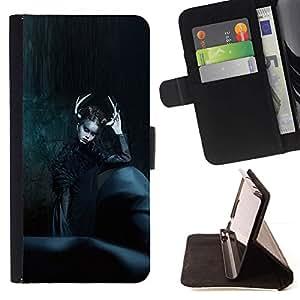 Momo Phone Case / Flip Funda de Cuero Case Cover - Moda Negro Bruja noche de Halloween - LG G4c Curve H522Y (G4 MINI), NOT FOR LG G4