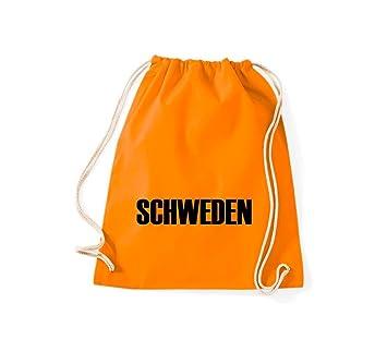 Camiseta stown Turn Bolsa Suecia País Países Fútbol, color naranja, tamaño 37 cm x