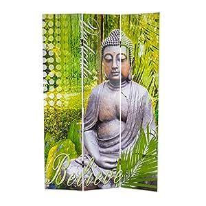 """Biombo """" Buddha"""", verde"""