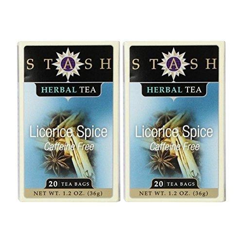 Stash Tea Spicy Licorice Tea - 20 ct (Pack of 2) (Herbal Sweet Licorice)