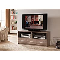 Kings Brand Furniture Wood TV Stand, Grey