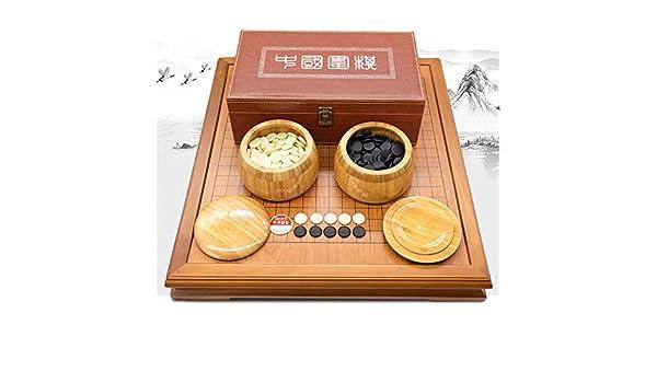 Go & Go Bang Juego de mesa de estrategia chino Go Set con Bamboo ...