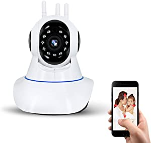 WiFi Wireless Smart Network HD Video Camera/Security Camera/Night Vision/Home Surveillance IP Camera, Cloud Service/Microsd Support, iOS/Android App Available/Baby and Pets Monitor_Shake 360 Degrees