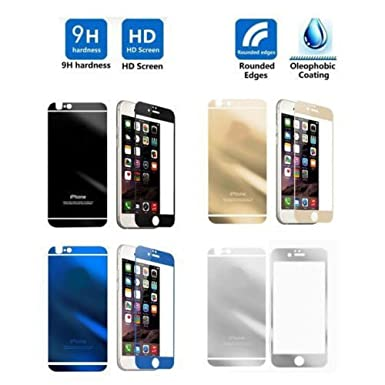 Front Back Mirror Tempered Glass Screen Protector For Apple IPhone 6 SILVER