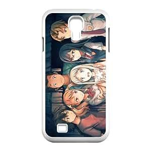 Anohana 005 Samsung Galaxy S4 9500 caja del teléfono celular funda blanca del teléfono celular Funda Cubierta EOKXLKNBC04991