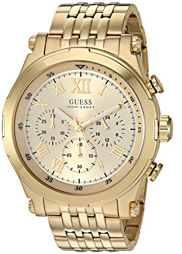 GUESS  Stainless Steel Gold-Tone Chronograph Bracelet Watch. Color: Gold-Tone (Model: U1104G5)