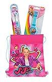 JoJo Siwa Travel Fun Set, Digital Watch and 2pk Kids Toothbrush with Travel Sling Bag