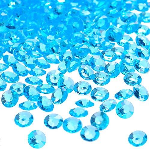 craftjoje 4.5MM 10000pcs Wedding Table Scattering Crystals Acrylic Diamonds Wedding Bridal Shower Party Decorations Vase Fillers (4.5mm, Aqua Blue)