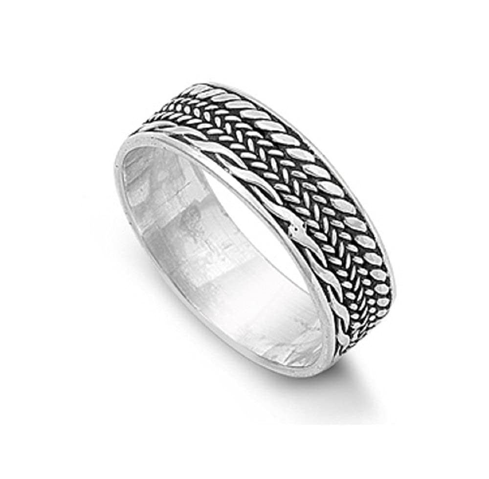 Princess Kylie 925 Sterling Silver Eternity Bali Band Ring