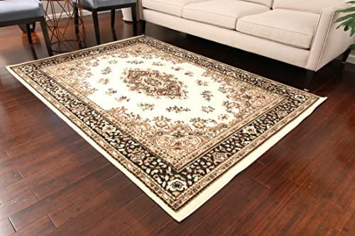 Generations New Ivory Oriental Traditional Isfahan Persian Area Rugs Rug 8052ivory 13 1 x 16