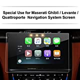 Maserati Quattroporte / Ghibli / Levante Car Navigation Screen Protector,LFOTPP Clear Tempered Glass In-Dash Screen Protector Center Touch Screen Protector Anti Scratch High Clarity