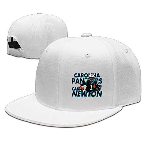 YQUE Unisex Cam 1# Newton Basketball Player Baseball Caps White (Cam Newton Cleats White)