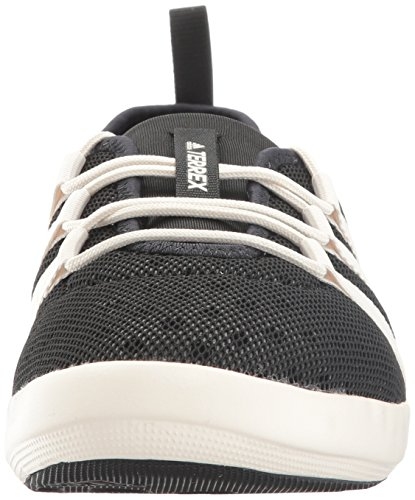 ee930c03611 adidas outdoor Women's Terrex Climacool Boat Sleek Water Shoe, Black/Chalk  White/Matte Silver, 8 M US