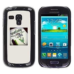 Planetar® ( World Cup Poster Green Fairytale Start ) Samsung Galaxy S3 III MINI (NOT REGULAR!) / I8190 / I8190N Fundas Cover Cubre Hard Case Cover